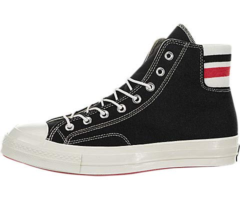 Converse Chuck '70 Retro Stripe High Top Shoes (Black/Sedona Red/Egret, Size Mens 10.5 M US/Womens 12.5 M US)