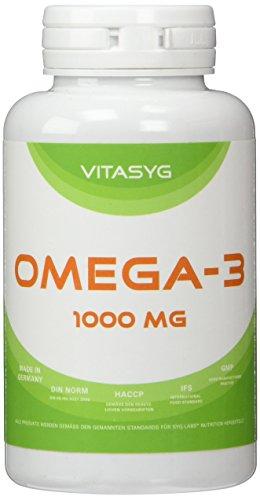 Vitasyg Omega 3 Fischöl Kapseln 1000 mg 18 prozent EPA, 12 prozent DHA - 100 Stück, 1er Pack (1 x 137 g)
