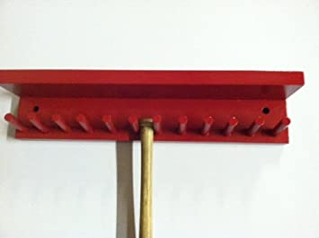 Baseball Bat Rack Display With Shelf Meant To Hold Up To 11 Mini  Collectible Bats Red