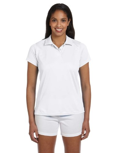 Ladies' Polytech Polo, White, XL