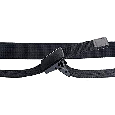 "Men's Canvas Military Tactical Belt for Regular & Big and Tall (32""-70"" Waist) with YKK Adjustable Plastic Buckle Belt: Clothing"