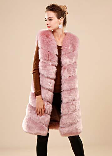 Chaleco ' Faux Womens Adulto Folobe Chaqueta Soft Blush 5wtXnqP