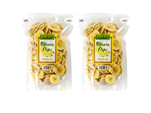 Trader Joe's Dried Fruit Banana Chips – 2 Pack (16 oz)