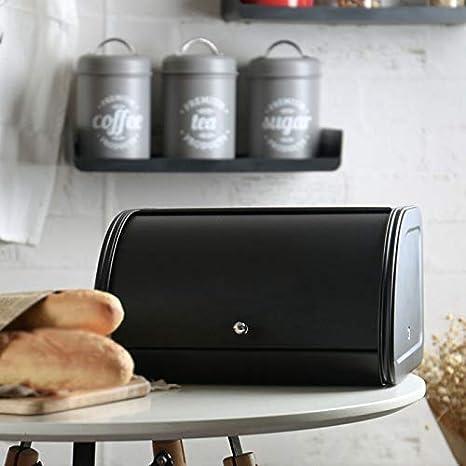 Mcottage Metal Bread Box Bin kitchen Storage Containers with Roll Top Lid Kitchenware Storage Box New