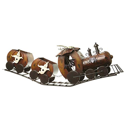 Heaven Sends Spooky Fun Halloween Ghost Train Decoration (30.31 x 7.48 x 10.24 ins) (Brown) ()