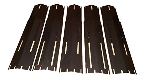 Set of 5 Heavy Duty BBQ Gas Grill Porcelain Steel Heat Plates for Brinkmann and Charmglow Grill (Brinkmann Replacement)