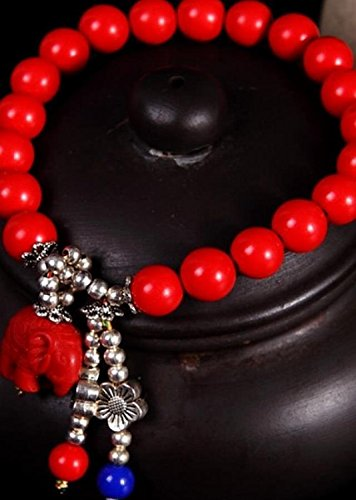 Generic Every day special] genuine cinnabar couple hand chain bracelet bangle wristband bracelets men and women of prayer beads to ward off evil transit beads birthday gifts by Generic (Image #4)