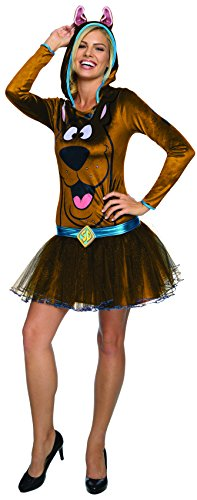 Rubie's Costume Co Women's Scooby Doo Hooded Costume Dress, Brown, Medium (Scooby Doo For Adults)