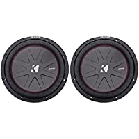 Kicker 12 2000 Watt 4 Ohm Car Stereo Subwoofer Audio Sub DVC COMPR (Pair)