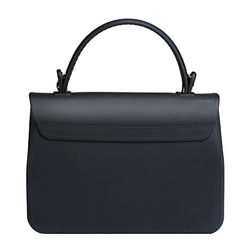 Top Handle Clutch Handbags Jelly Crossbody Bags for Women Tote Purse - Black by Chrysansmile (Image #2)