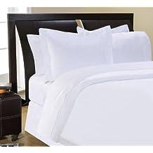 Pointehaven 400 Thread Count Pima Cotton Bedding Set, King, White