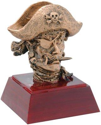 Trophy Crunch Pirate Mascot School Award - Free Custom Engraving