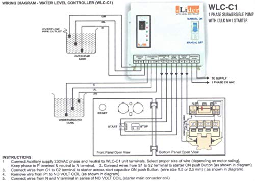 Lider water level controller for single phase submersible ... on