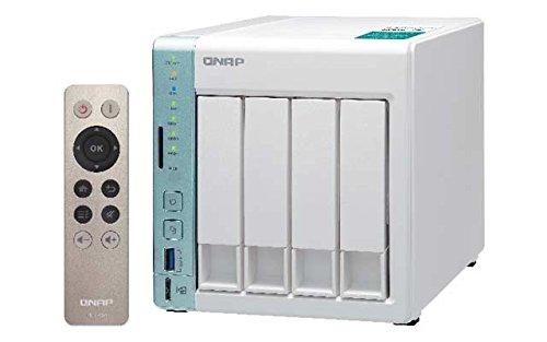 QNAP 451a -4g 1.6GHz, DualCore 4de Bay 16TB Bundle con 4x 4TB WD40EFRX Red