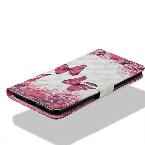 Para OnePlus 5T funda, Ecoway pintura 3D caja del teléfono de la PU patrón en relieve ,Función de Soporte Billetera con Tapa para Tarjetas correa - Hermosa Hong Daddy