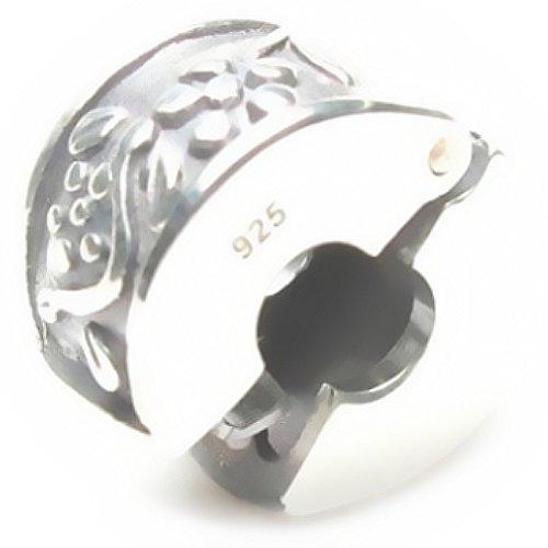Beads Hunter Jewelry Clip Genuine Sterling Silver .925 (Flower Vine)