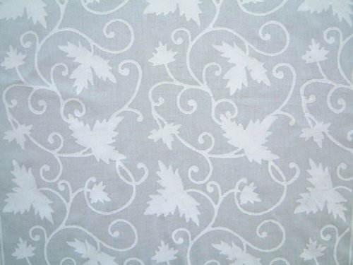Ivy Lace ~ Elegant White Wedding India Block Print Table Cloth 70x90