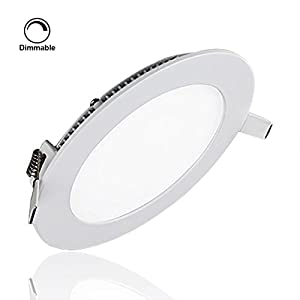 s g ultra thin led recessed lighting round ultrathin dimmable led panel light 12w 810lm 3000k. Black Bedroom Furniture Sets. Home Design Ideas