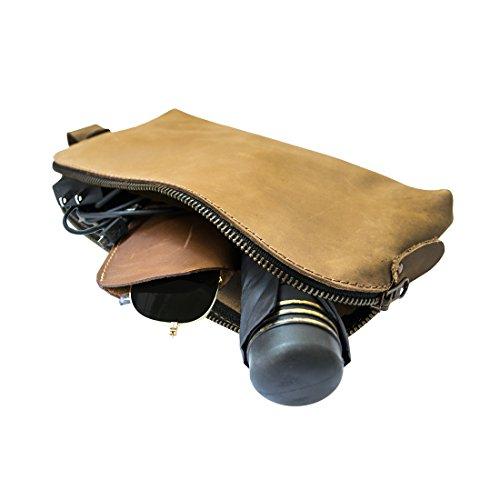 Grande per tutti gli usi Dopp Kit Utility Bag (corde, alimentatori, strumenti, scuola / articoli per ufficio) :: café con leche