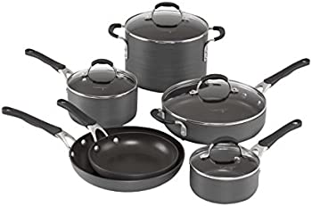 10-Pe. Calphalon Hard-Anodized Cookware Set