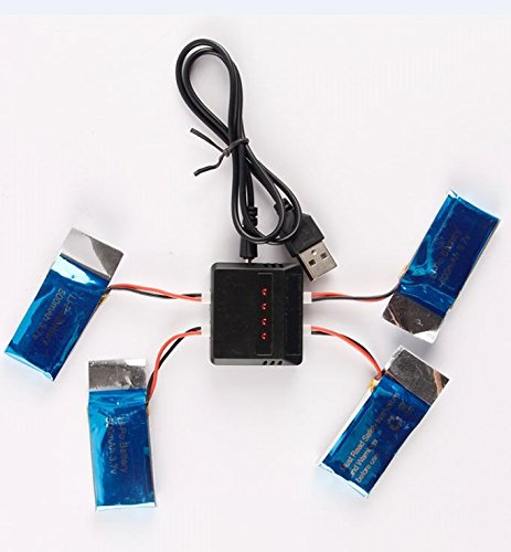 X5C用 予備バッテリー×4個 4個同時充電器の商品画像