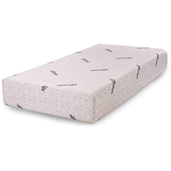 Comfort & Relax Memory Foam Mattress with Gel-infused AirCell Tech, Bamboo Fabric Cover, 10