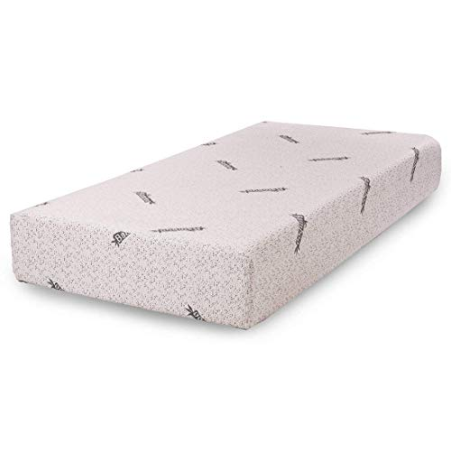 Comfort & Relax Memory Foam Mattress with Gel-infused AirCell Tech, Bamboo Fabric Cover, 10 TWIN