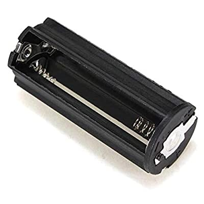 Aleola Black Cylindrical 3 AAA Plastic Battery Holder Adapter Case Box Flashlight Lamp: Toys & Games