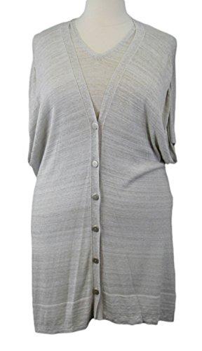 - Marina Rinaldi by MaxMara Kaxe Beige 2-PC Knit Sweater w/Cardigan L