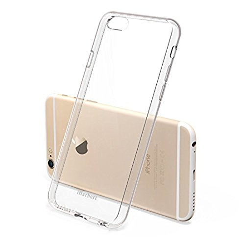 iPhone 6S Hülle - iHarbort® iPhone 6/ 6S Weich Gelee Gel TPU Silikon Schutzhülle Case Cover Stoßstange-Abdeckung mit Stoßdämpfung Stoßstange mit Displayschutzfolie, Transparent