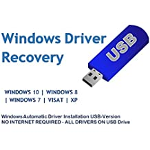 Automatic Driver Installation USB Drive 32GB for Windows 10, 7, Vista and XP. Supports HP Dell Gateway Toshiba Gateway Acer Sony Samsung MSI Lenovo Asus IBM Compaq eMachines (USB-DRIVE)