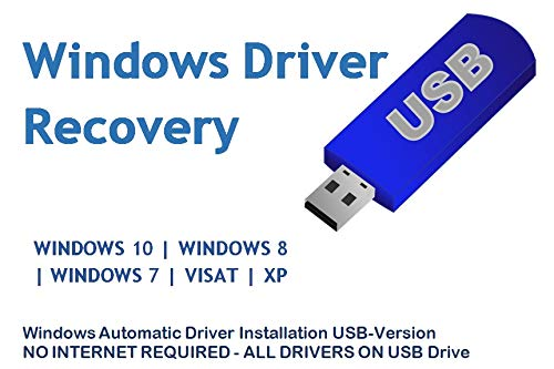 Automatic Driver Installation USB Drive 32GB for Windows 10, 7, Vista and XP .