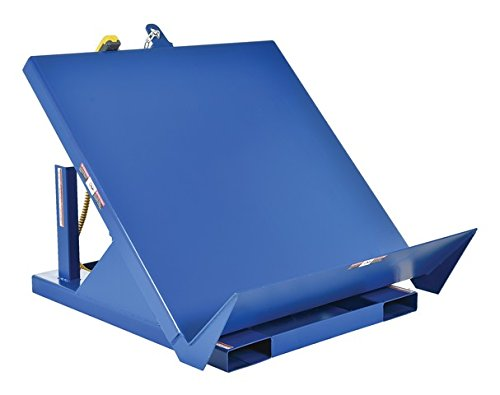 Vestil EM1-200-4848-4 Efficiency Master Tilt Table, Welded Steel, 48'' Length, 48'' Width, 24'' Horizontal Height, 4000 lbs Capacity by Vestil