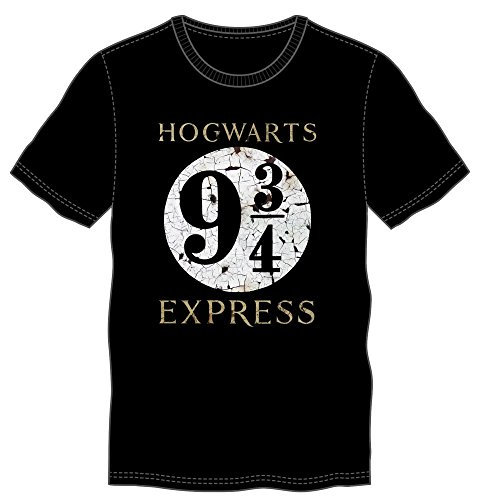 Harry Potter 9 3/4 Hogwarts Express Mens Black T-shirt (Medium) (Harry Potter Shop)