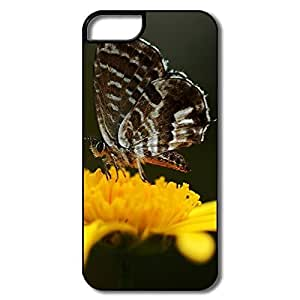 IPhone 5 5S Case, Butterfly Yellow Flower White/black Cases For IPhone 5S