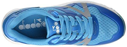 Diadora N9000 MM Bright, Pompes à Plateforme Plate Mixte Adulte Bleu - Blu (97023 Blu Fluo)