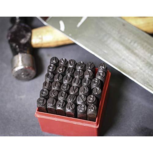 Sealey ak8297/letra /& n/úmero punzones 36pc 8/mm