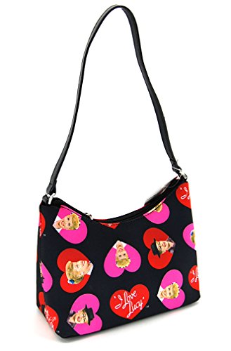 I Love Lucy Signature Product Women's Hobo LU65,Black/Hearts,US by I Love Lucy (Image #2)