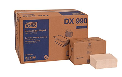 Tork DX990 Advanced Plus Xpressnap Dispenser Napkin, Interfold, 2-Ply, 8.5