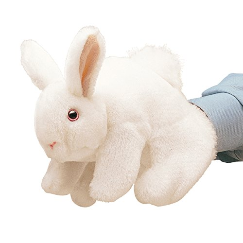 Folkmanis White Bunny Rabbit Hand Puppet (Stage Rabbit Puppet)