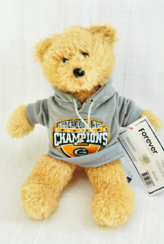 Green Bay Packers Official NFL Super Bowl 45 Champions Team special fabric jersey HOODY Teddy Bear