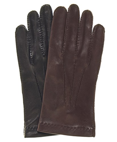 Fratelli Orsini Men's Handsewn Italian Unlined Leather Gloves Size 7 Color Black
