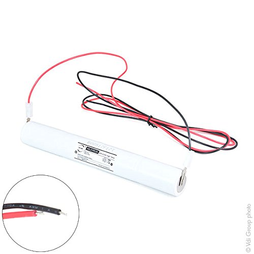 NX - Emergency lighting battery 4xD ST4 + support + wires 4.8V 4Ah