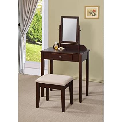 3 Piece Vanity Set.Amazon Com 3 Piece Vanity Set Espresso Kitchen Dining