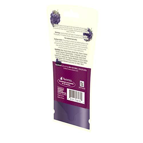 AVEENO Peel Off Mask Alpha Hydroxy Acids, Vitamin Blackberry Complex, Non-Comedogenic 0.35 oz
