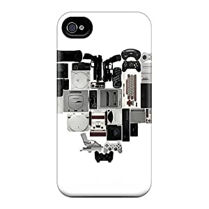 Hot Design Premium Yws542lGjC Tpu Case Cover Iphone 4/4s Protection Case(heart)