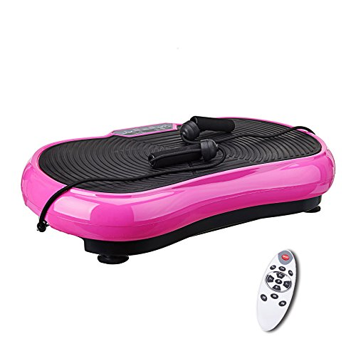 Pinty Full Body Exercise Vibration Platform Crazy Fit Fitness Machine (Pink)