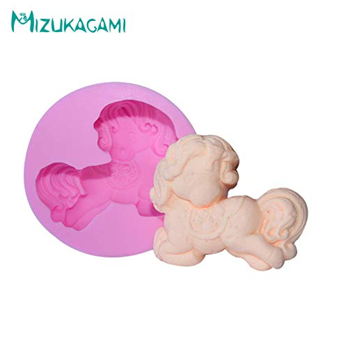 (1 piece 3D Pony Horse Silicone Mold Liquid Silicone Mold Soft Ceramic Handmade Soap Cloth Chocolate Cake Mold DJ-01139)