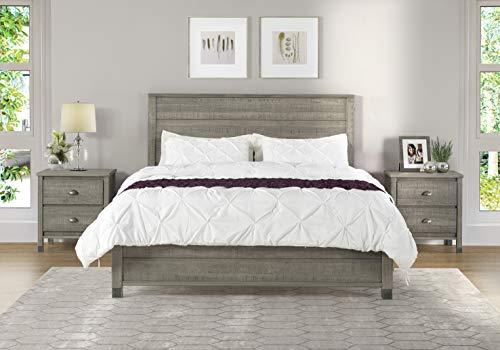 Camaflexi BJ507 Baja Platform Bed, Full Size, Grey