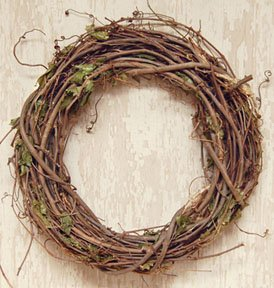Primitive Grapevine (Grapevine Branches And Dried Leaves Wreath Country Primitive Florals)